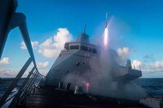 Raketlancering vanaf een LCF. Foto: Ministerie van Defensie