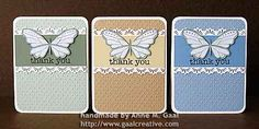 Butterfly Lace Card Set by Anne Gaal of Gaal Creative at http://www.gaalcreative.com - Feel free to re-pin! ♥