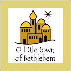 Inkwell Stamps O Little town of Bethlehem Nativity Crafts, Christmas Nativity, Christmas Music, Christmas Crafts, Christmas Plays, Christmas Ideas, Christmas Windows, Christmas Paper, Holiday Ideas