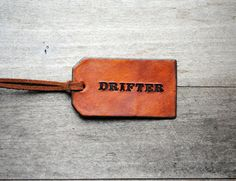 leather swing tag