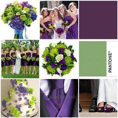 Purple and Green! :  wedding canada green inspiration ivory ontario purple september toronto white Cakemosaic