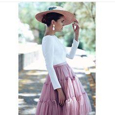 """Margarita de Guzmán Luque ✨ on Instagram  """"Look impecables que nos propone   patriciabazarot ideal! 💗💗💗No os encantan las faldas de tul   d08411c68eb3"""