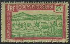 Cameroun#171 - Herder & Cattle crossing Sanaga River - MNH - bidStart (item 21022165 in Stamps... Cameroun)