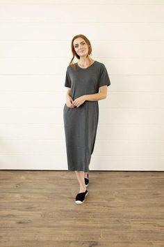 Modest Clothing, Sleeve Tier Dress, Modest clothes Modest Clothing, Modest Dresses, Modest Outfits, Modest Fashion, Girls Dresses, Dresses With Sleeves, Emo Fashion, Jean Skirts, Midi Skirts