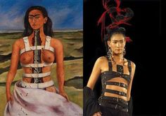 1998 African Tribal Girls, Frida Kahlo Tattoos, Female Body Paintings, Kahlo Paintings, Frida And Diego, Post Apocalyptic Fashion, Diego Rivera, Jean Paul Gaultier, Erotic Art