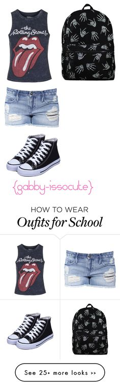 """""""Back to school outfit #1"""" by gabby-issocute on Polyvore featuring Topshop and Black Orchid"""