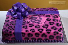 Cheetah Sheetcake #31Present by Michael Angelo's Bakery | Michael Angelo's Bakery