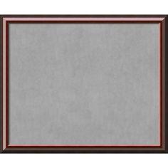 Framed Magnetic Board Choose Your Custom Size, Cambridge Mahogany Wood (24 x 20-inch), Black