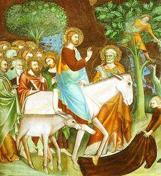 Triumphal Entry into Jerusalem by Lippo Memmi (c. 1291 – 1356)
