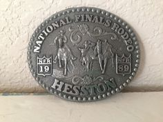 1989-Hesston-National-Finals-Rodeo-Collector-039-s-Seventh-Edition-Belt-Buckle