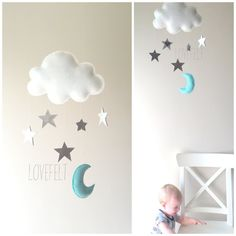 Baby mobile - Stars mobile - Cloud Mobile - Baby Mobile Cloud Stars によく似た商品を Etsy で探す