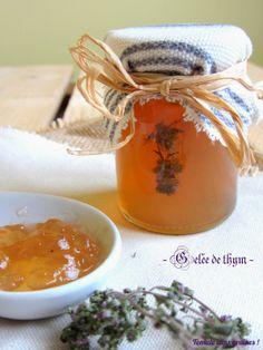 Gelée de thym http://tomatesansgraines.blogspot.fr/2014/04/gelee-de-thym-culino-versions-avril-2014.html