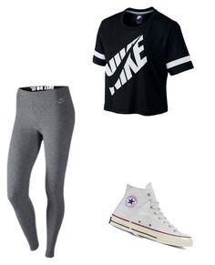 """Lazy "" by alejandra-martinez-738 on Polyvore featuring NIKE and Converse"