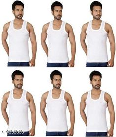 Innerwear Vests Trendy Men's Innerwear Vests Fabric: Hosiery Cotton Sleeves: Sleeves Are Not Included Size: S - 80 cmM - 85 cm L - 90 cm XL - 100 cm Length: Up To 26 in Type: Stitched Description: It Has 6 Pieces Of Men's Vests Pattern: Solid Country of Origin: India Sizes Available: XS, S, M, L, XL   Catalog Rating: ★4.2 (5066)  Catalog Name: Trendy Comfy Men's Solid Inner Vest Combo Vol 11 CatalogID_624912 C68-SC1217 Code: 363-4353638-837