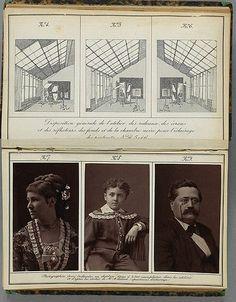 Alphonse J. Liébert  [Studio illustration with example portraits]  1878 Book illustration  Musée français de la Photographie