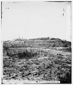Savannah, Georgia (vicinity). Fortifications in front of Fort McAllister  Dec 1864