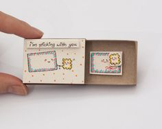 Anniversary Love Card I'm Sticking with you Matchbox/ by shop3xu
