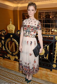 Foxy Lady: Emilia Fox arrived wearing a layered mesh dress with very intricate sequin deta. Old Hollywood Style, Hollywood Fashion, Freddie Fox, Emilia Fox, Sparkly Mini Dress, Amber Le Bon, Evangeline Lilly, English Actresses, Love Her Style