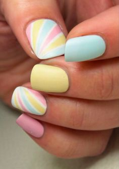 Fun & Easy Rainbow Nail Art Ideas to Copy Right Pretty Rainbow Nails You Need to Try Rainbow might have varied meanings in someone's life. Rainbow Nail Art Designs, Hot Nail Designs, Halloween Nail Designs, Halloween Nails, Pretty Designs, Bloody Halloween, Awesome Designs, Spring Nail Art, Spring Nails