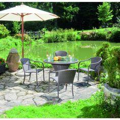 "Sitzgruppe "" Haiti Flechtwerk"" in Cappuccino-Optik - Ihr Online Shop für exklusive Gartenmöbel - #Garten #Moebel"