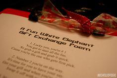 michelle paige: White Elephant Gift Exchange Poem