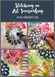 Stitching in Art Journaling with Roben-Marie Smith