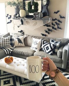 Some of you might say ✋too soon...I say, it's not soon enough 👊 My daughter begged me to decorate the whole house with our halloween decor, and we agreed on JUST their play room for now!! Loving my new crow pillow from @lovedbirdcreations her pillows are phenomenal 🙌🏼 go check her out!! Loving my Swiss cross sign from @amesandemes too 👏🏼👏🏼 have a spooktacular day!!!!! #instagrampillowfight #myfavpicfriday #showmeyourholiday #playroom #design #holloween #spooky #boo #jordwatch…