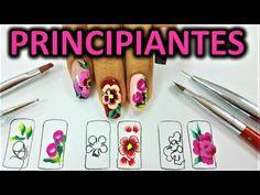 dibujar facil pincelada en tus uñas - como pintar flores pinceladas - pincelada para principiantes - YouTube Fish Nail Art, Fish Nails, Acrylic Nail Art, Nail Art Diy, Spring Nail Art, Spring Nails, Paris Nails, Wedding Nails Design, Simple Nail Art Designs