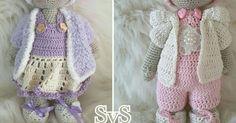 Banjo en Bibi Kooppatroon van Wilma Schut  https://www.facebook.com/schutwilma   eigen haaksels   Pinterest   Amigurumi, Haken and Crochet dolls