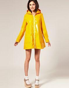 Yellow PVC Raincoat