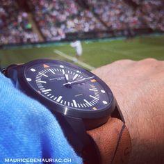 Wimbledon 2014 with my #mauricedemauriac watch.