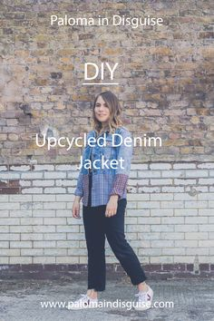 With a denim jacket & 2 shirts, recreate this contrasting denim jacket with items already in your wardrobe or using items readily available in charity & vintage shops. Charity Shop, Diy Shirt, Diy Craft Projects, Shirt Jacket, Diy Fashion, Vintage Shops, Denim, Jackets, Shirts