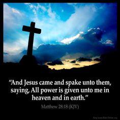 Matthew 28:18 KJV
