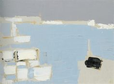 Marseille under snow – Nicolas de Stael Abstract Landscape Painting, Landscape Art, Landscape Paintings, Abstract Art, Joan Mitchell, Art Informel, Tachisme, Great Paintings, Art Abstrait