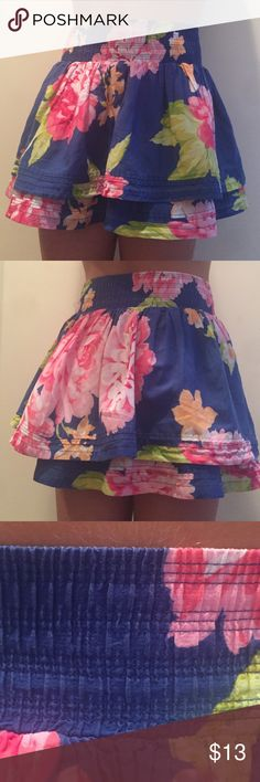 30% Off Bundles! Abercrombie Kids Flowered Skirt🌸 Abercrombie Kids Flowered Skirt. Multicolored. 2 layers. Waist band. In fabulous condition!!!🌸🌸💕 abercrombie kids Bottoms Skirts