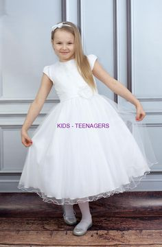 Bajeczna sukienka na komunię Delfina ecru 4109682fbf0