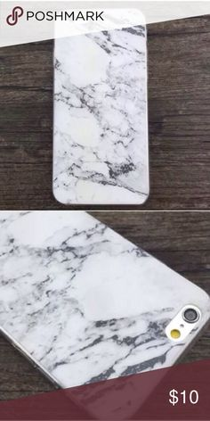 ❗️Marble soft iPhone case cover❗️ Marble soft iPhone case cover ⭐️6/6s ⭐️New in package  ⭐️ please note may have a slight color difference due to lighting Sorry no trades Happy Poshing  Accessories Phone Cases