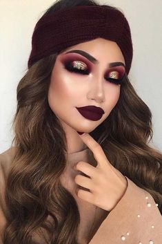 ✔ best sexy eyeshadow makeup inspiration ideas for prom and wedding 39 Glam Makeup, Gold Eye Makeup, Cute Makeup, Makeup For Brown Eyes, Party Makeup, Makeup Inspo, Eyeshadow Makeup, Wedding Makeup, Makeup Inspiration