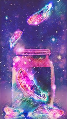 Jar Of Feathers Galaxy, made by me purple sparkly wallpapers backgrounds sp. Dreamcatcher Wallpaper, Butterfly Wallpaper, Glitter Wallpaper, Cute Wallpaper Backgrounds, Pretty Wallpapers, Colorful Wallpaper, Galaxy Wallpaper, Screen Wallpaper, Cool Wallpaper