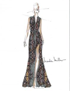 Nicole Miller fall 2013 inspiration #Fashion #Sketch  Highlight Description Nicole Miller fall 2013 inspiration #Fashion #Sketch