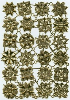 GOLD HERALDIC MEDALS Dresden Trims by OneDayLongAgo on Etsy, $5.75