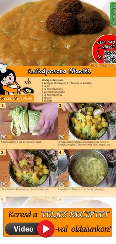 Cook savoy cabbage, potatoes and cumin with savory savoy cabbage! The savoy cabbage recipe video is easy to find using the QR code 🙂 # Savoy cabbage # Vegetable dishes vegetable # Wax beans Veggie Recipes, Real Food Recipes, Vegetarian Recipes, Cooking Recipes, Healthy Recipes, Hungarian Cuisine, Hungarian Recipes, Tasty Dishes, Food Dishes