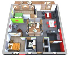 amenagement interieur maison 90m2