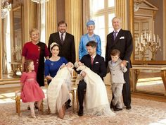 Princess Isabella, Crown Princess Mary with Princess Josephine,Crown Prince Frederick with Prince vincent ,Prince Christian. Susan and John Donaldson, Queen Margrethe and Prince Henrik