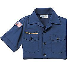 The Cub Scout Short-Sleeve Uniform Shirt is crafted with durable double needle construction in a 67% cotton/33% polyester blend.  Wearers enjoy the comfort of cotton next to your skin and easy care of polyester. Part of the official Cub Scout uniform for