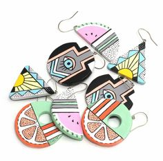 Jessie Willow Tucker Lingerie, from the Design Files. Fantastic colourful, 80s inspired earrings! http://obus.com.au/