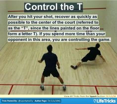 Squash - Control the T Squash Game, Play Squash, Squash Tips, Squash Rackets, Squashes, Hobbies And Interests, Letter T, Racquet Sports, Excercise