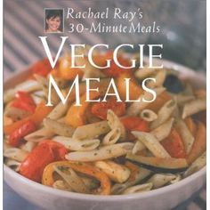 Veggie Meals: Rachael Ray's 30-Minute Meals.  My mom purchased this for me at a book signing when I was a vegetarian...so my copy is signed.  It has less recipes than most of her other books, but has some good options.  This was my first RR book.