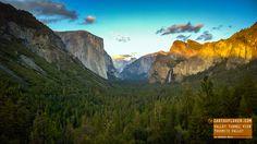 El Capitan, Half Dome and Bridalveil falls - Yosemite Valley