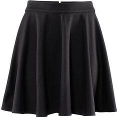 H&M Skirt ($7.20) ❤ liked on Polyvore featuring skirts, mini skirts, bottoms, saias, black, jersey skirt, short skirts, short mini skirts and h&m skirts
